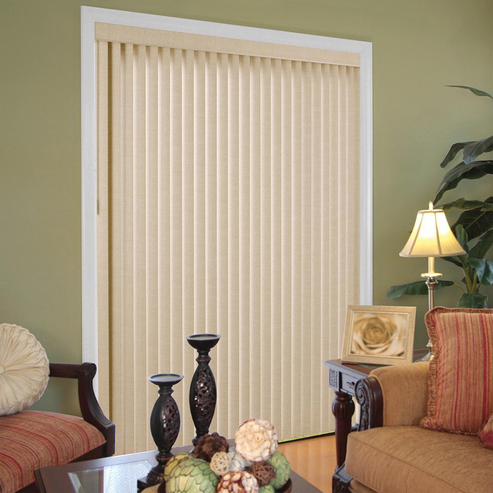 vertical blinds beige